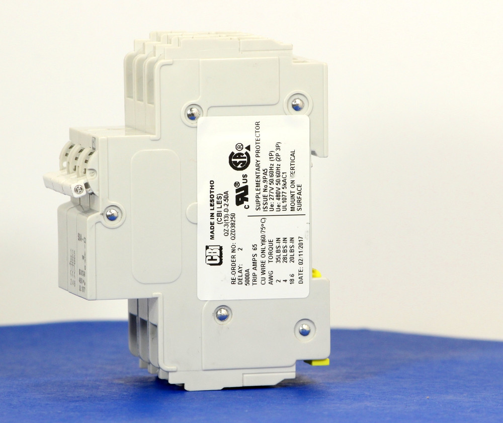 QZD38250 (3 Pole, 50A, 277/480VAC, UL Recognized (UL 1077))