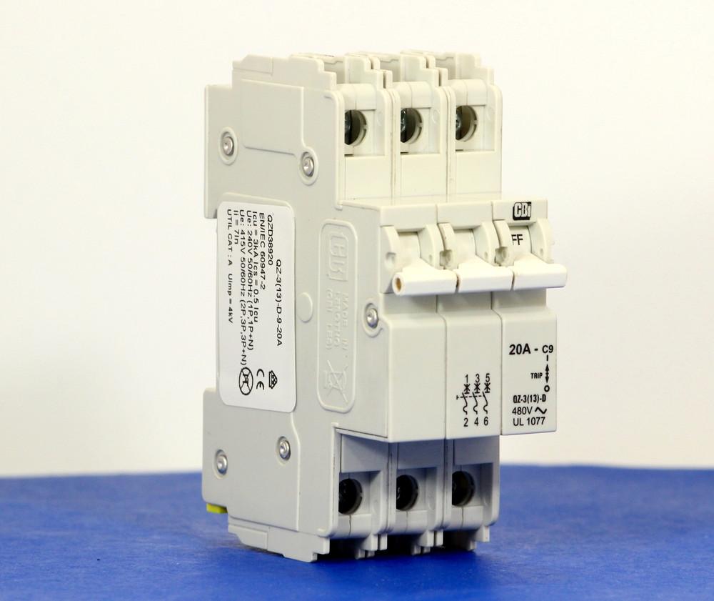 QZD38920 (3 Pole, 20A, 277/480VAC, UL Recognized (UL 1077))