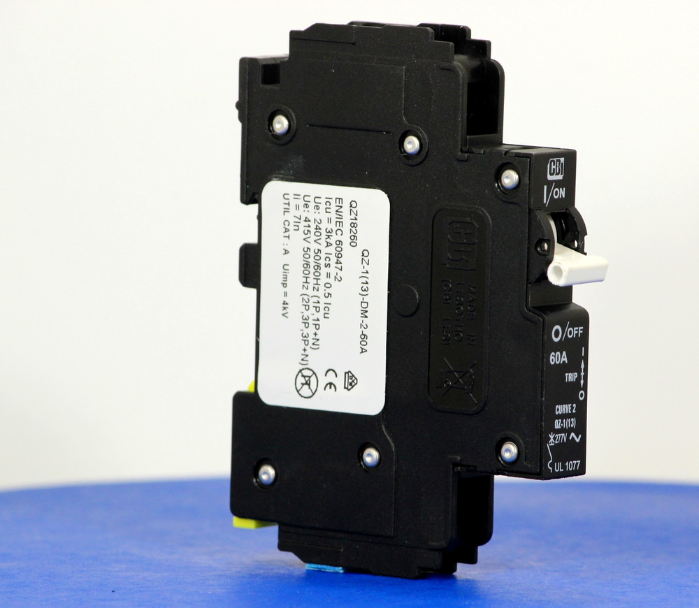 QZ18260 (1 Pole, 60A, 277VAC, UL Recognized (UL 1077))
