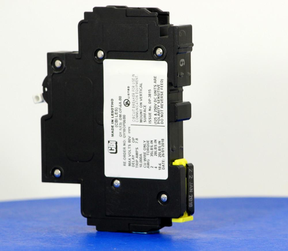 QY18OP06B0 (1 Pole, 6A, 80VDC, UL Listed (UL 489))