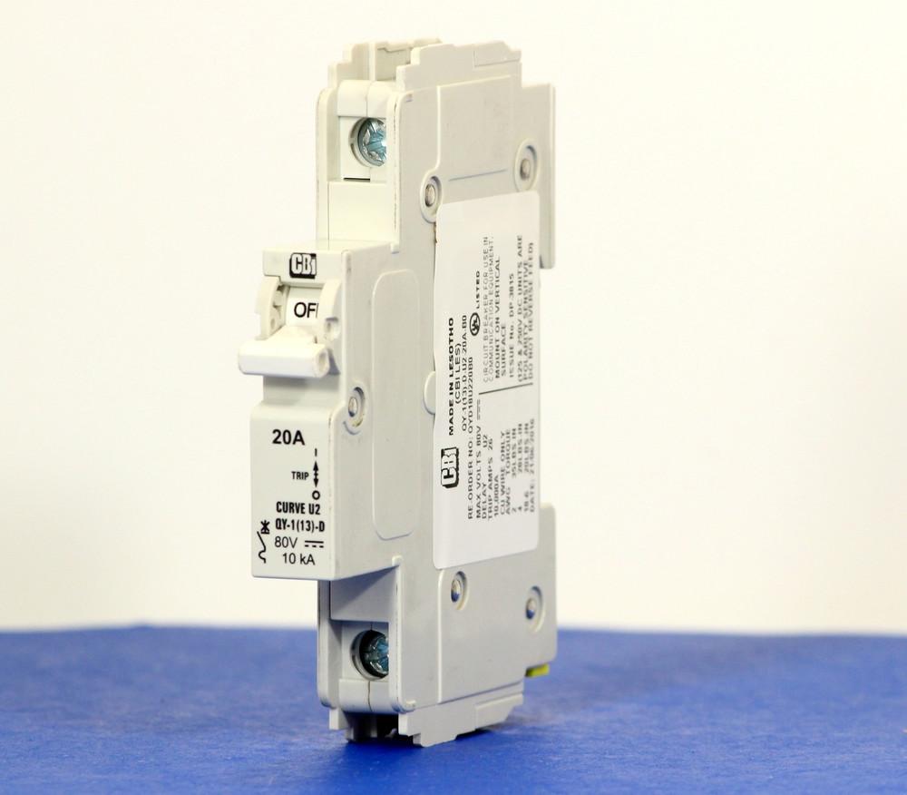 QYD18U220B0 (1 Pole, 20A, 80VDC, UL Listed (UL 489))