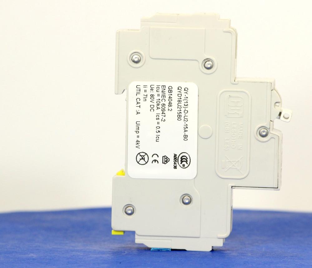 QYD18U215B0 (1 Pole, 15A, 80VDC, UL Listed (UL 489))