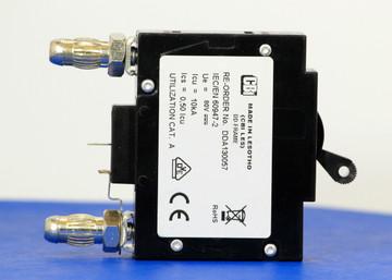 DDA130057 (1 Pole, 20A, 80VDC, Plug-In Terminals, Series Mid-Trip w/alarm, UL Listed (UL 489))