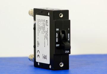 D2ALX20128 (1 Pole, 25A, 80VDC, Plug-In Terminals, Series Mid-Trip w/alarm, UL Listed (UL 489))