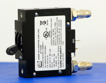 DDA130062 (1 Pole, 80A, 80VDC, Plug-In Terminals, Series Mid-Trip w/alarm, UL Listed (UL 489))