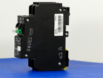 QF17A63 (1 Pole + Neutral, 63A, 240VAC, UL 1053, GFI/ Earth Leakage)