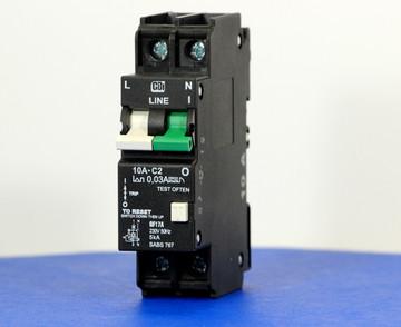 QF17A10 (1 Pole + Neutral, 10A, 240VAC, UL 1053, GFI/ Earth Leakage)
