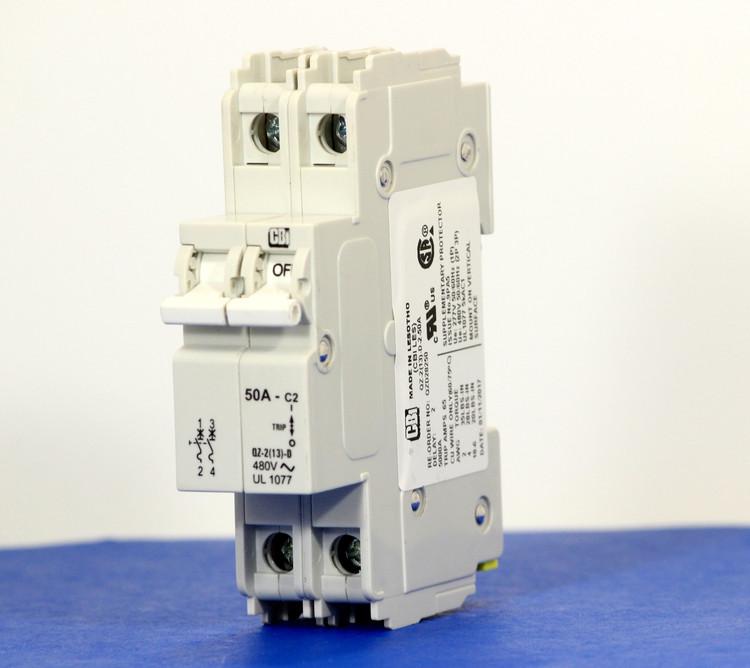 QZD28250 (2 Pole, 50A, 277/480VAC, UL Recognized (UL 1077))