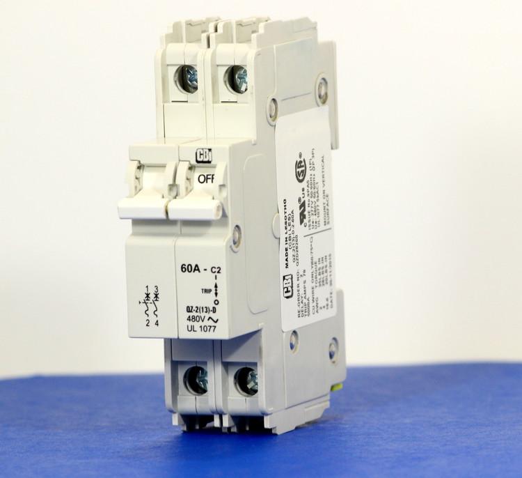 QZD28260 (2 Pole, 60A, 277/480VAC, UL Recognized (UL 1077))