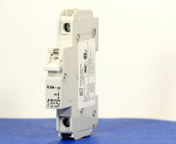QZD1890.5 (1 Pole, 0.5A, 277VAC, UL Recognized (UL 1077))