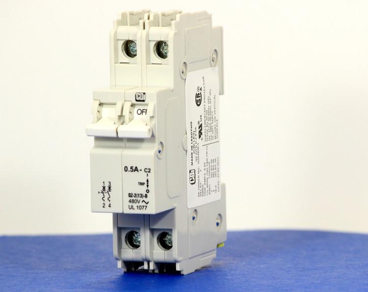 QZD2820.5 (2 Pole, 0.5A, 277/480VAC, UL Recognized (UL 1077))