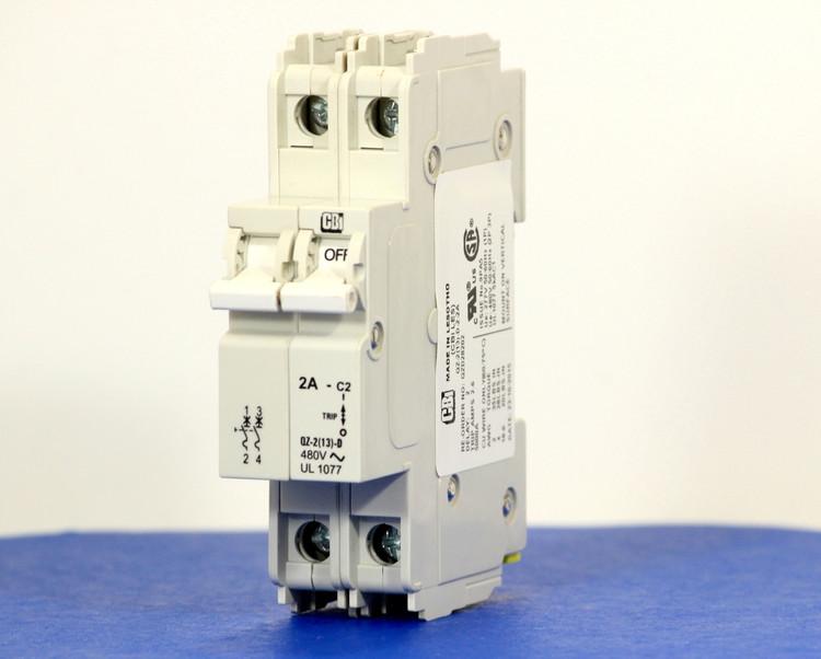QZD28202 (2 Pole, 2A, 277/480VAC, UL Recognized (UL 1077))