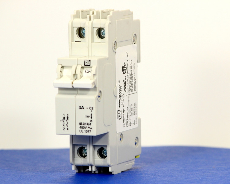 QZD28203 (2 Pole, 3A, 277/480VAC, UL Recognized (UL 1077))