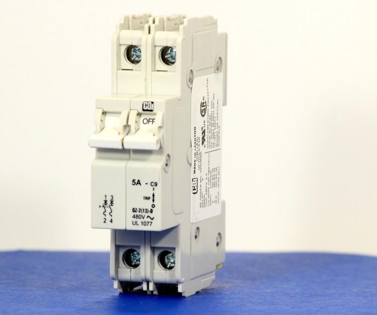 QZD28905 (2 Pole, 5A, 277/480VAC, UL Recognized (UL 1077))