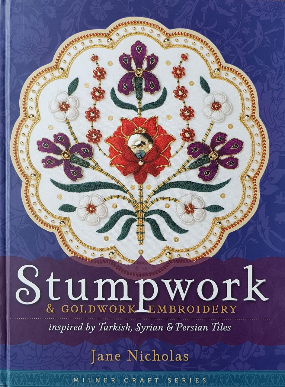 Stumpwork & Goldwork Embroidery, inspired by Turkish, Syrian and Persian Tiles