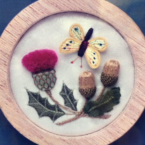 Acorn, Thistle and Butterfly