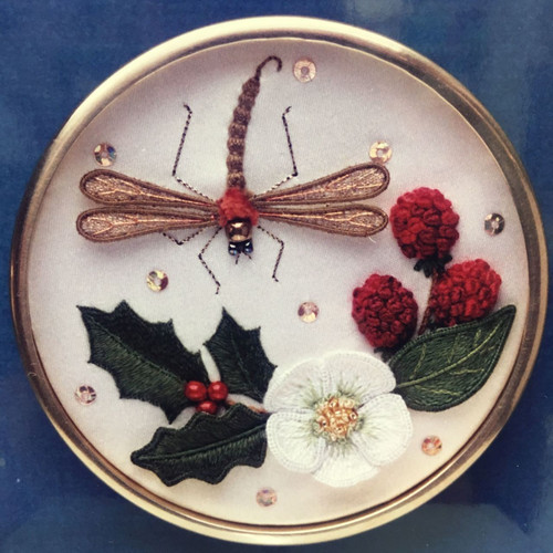 Christmas Rose and Dragonfly