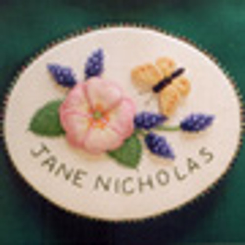 Rose and Grape Hyacinth Name Brooch
