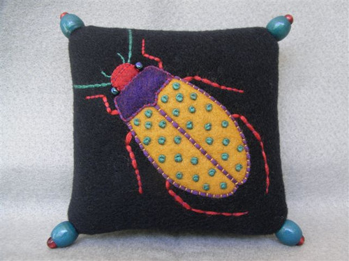 Appliqué Beetle Pincushion