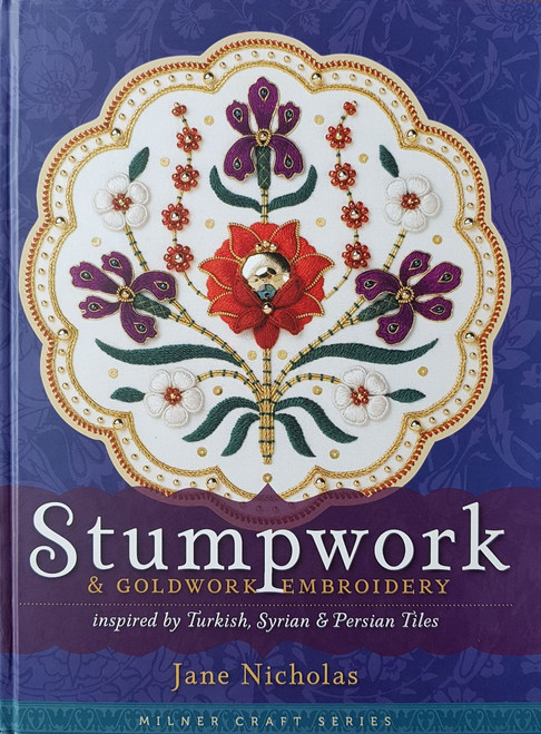 Stumpwork & Goldwork Embroidery, inspired by Turkish, Syrian & Persian Tiles