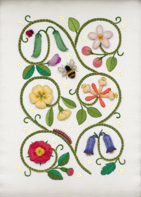 Elizabethan Flower Panel