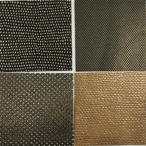 Leather assortment 7 - Gold textured