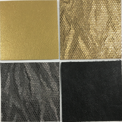 Leather assortment 8 - Gold/silver/kid