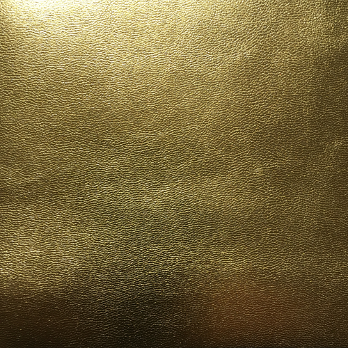 Leather square - Bright Gold