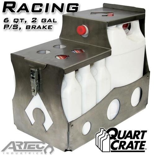 Racing Quart Crate 6 Qts Brake P/S 2 Gallons Artec Industries - QC0102