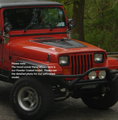 Jeep YJ Series Louvered Hood Panel Hyline Offroad - 200.500.110