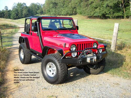 Jeep TJ Series Louvered Hood Panel for 97-02 Wrangler Hyline Offroad - 300.500.110