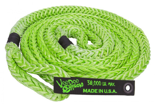 Kinetic Recovery Rope Truck/Jeep 7/8 Inch x 20 Foot Green With Rope Bag VooDoo Offroad - 1300001-HDRD