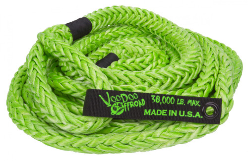 Kinetic Recovery Rope Truck/Jeep 7/8 Inch x 30 Foot Green With Rope Bag VooDoo Offroad - 1300002-HDRD
