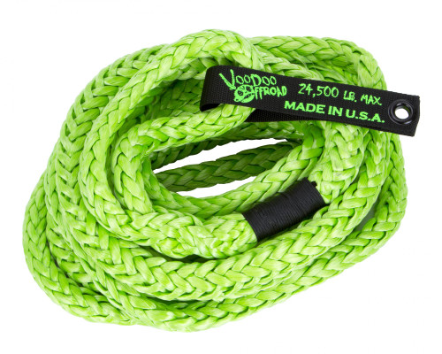 Kinetic Recovery Rope Truck/Jeep 3/4 Inch x 20 Foot Green With Rope Bag VooDoo Offroad - 1300008-HDRD