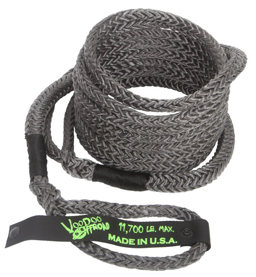 Kinetic Recovery Rope UTV 1/2 Inch x 20 Foot Black VooDoo Offroad - 1300029-HDRD