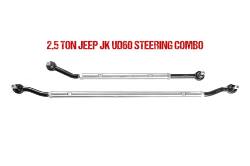 Jeep JL Ultimate Dana 60 2.5 Ton Tie Rod and Drag Link Combo 18-Pres Wrangler JL Fusion 4x4 - FUS-UD60JL-DTC-HWRY