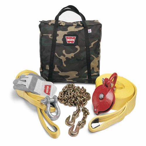 With Snatch Block Tree Protector 3/4 Inch Shackle Strap Chain Gloves Gear Bag - 29460