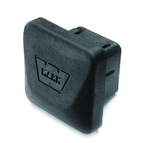 Fits 2 Inch Receiver; Square; Black; Rubber - 37509