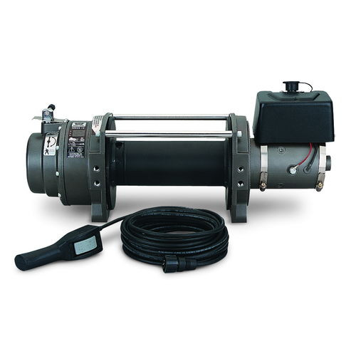 Winch 12 Volt 15000 LB Cap Wire Fairlead Wired Remote Planetary Gear Drive - 66032