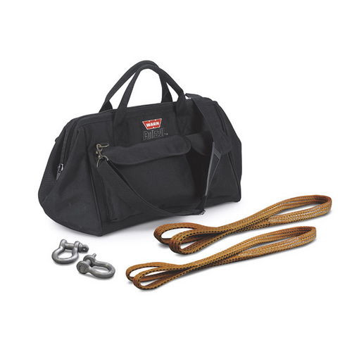 With Two Shackles; Two Load Straps and Gear Bag; Black - 685014