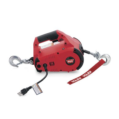Portable 1000 LB Cap 15 Ft Wire Rope Hook and Swiveling Anchor Hook Red - 885000