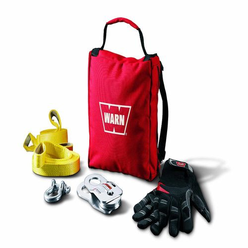 Includes 9000 LB Snatch Block Tree Protectors 1/2 Inch D-Shackle Gloves Gear Bag - 88915
