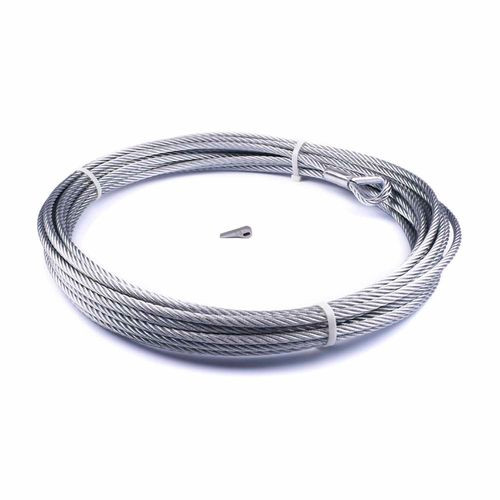 For Warn Zeon-10 Winch 3/8 Inch Diameter x 80 Ft Length Galvanized Aircraft Wire - 89213