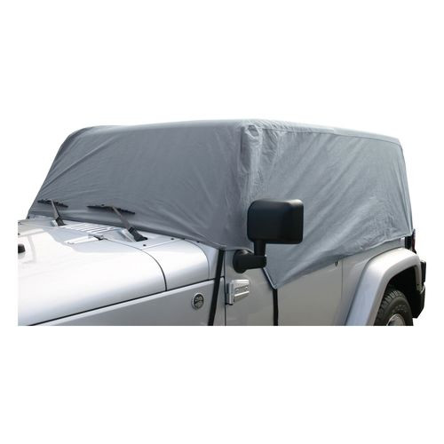 Non Water-Resistant Gray Cab Cover for 07-18 JK 2-Door; Fits Soft or Hard Top - CC10509