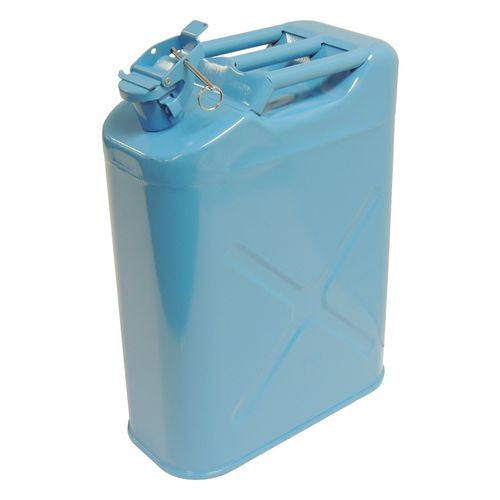 Blue 5-Gallon Steel Water Can w/ Food-Grade Polyurethane Lining; Universal Fit - RT26020