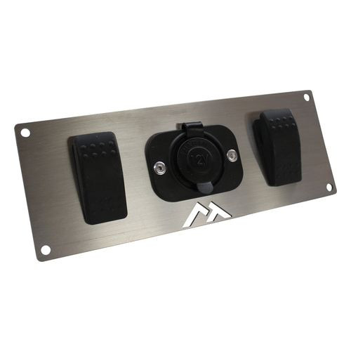 Switch Plate w/ 1 Power Socket and 2 Rocker Switches for Universal Applications - RT29007