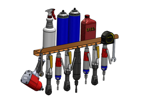 Air Tool Rack - Low Profile