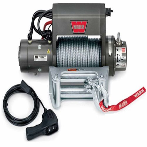 12 Volt 9000 LB Cap 125 Ft Wire Rope Roller Fairlead Wired Remote - 27550