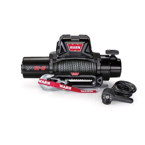 Vehicle Mounted Vehicle Recovery Winch 12 Volt 12000 LB Cap 90 Ft Synthetic Rope - 97035