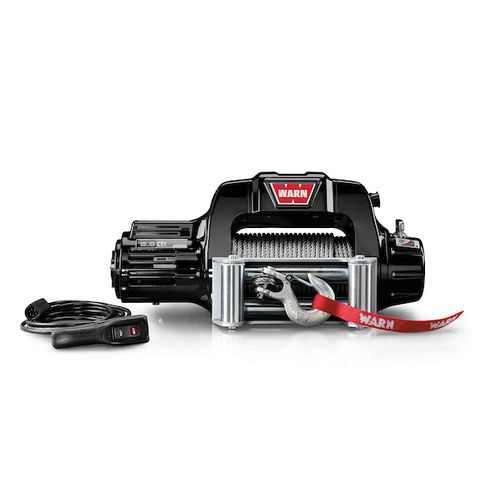 Vehicle Mounted Vehicle Recovery Winch 12 Volt 9500 LB Cap 125 Ft Wire Rope - 97550